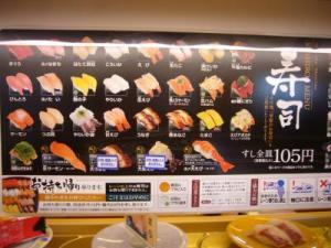 Sushi train price