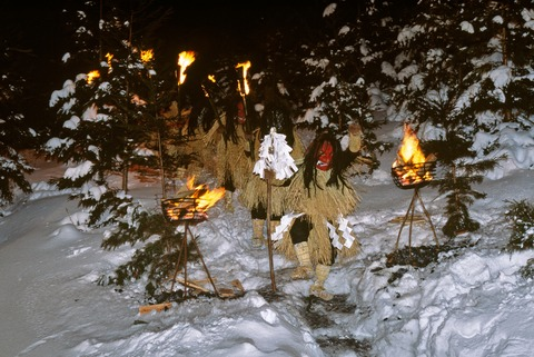 Namahage in snow